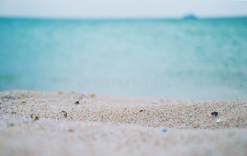 Piasek plaża w Crimea fotografia stock