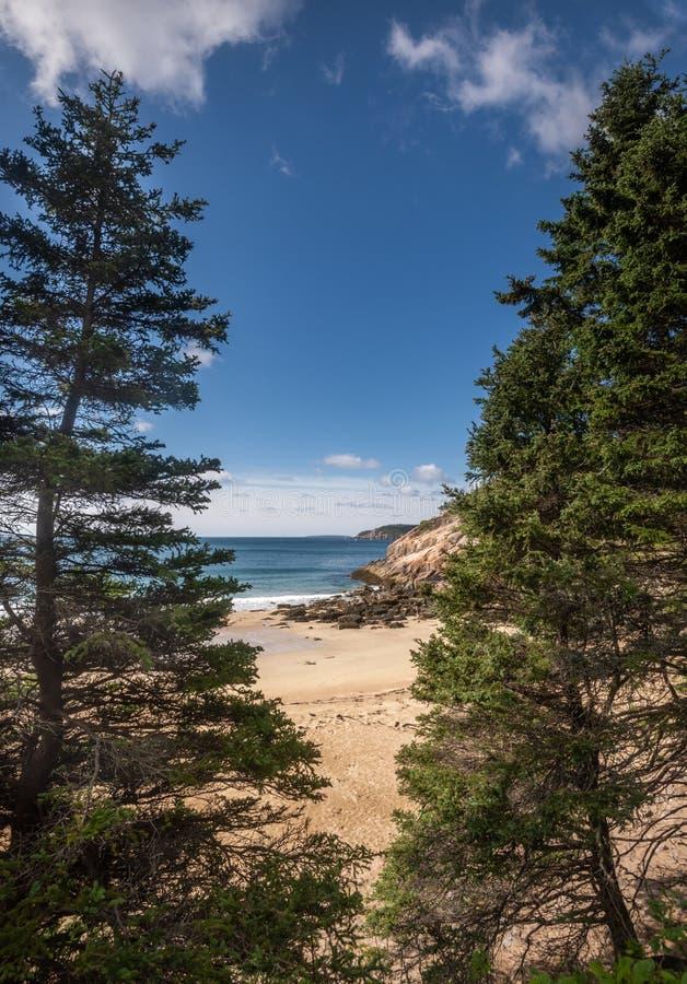 Piasek plaża w Maine obraz royalty free