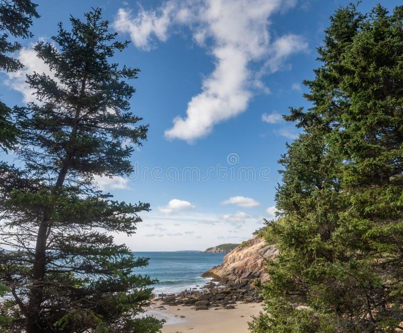 Piasek plaża w Maine obraz stock
