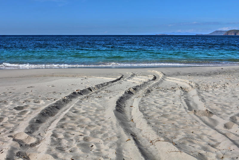 Piasek Playa Conchal, Costa Rica fotografia stock