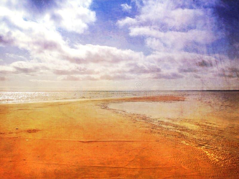 Piasek Prętowa plaża obraz stock