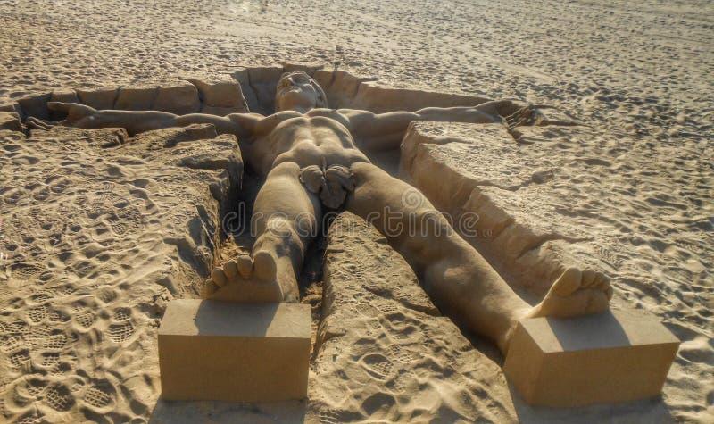 Piasek rzeźba zdjęcie royalty free