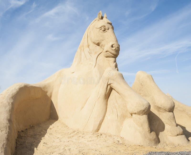 Piasek rzeźba wielki koń obrazy royalty free