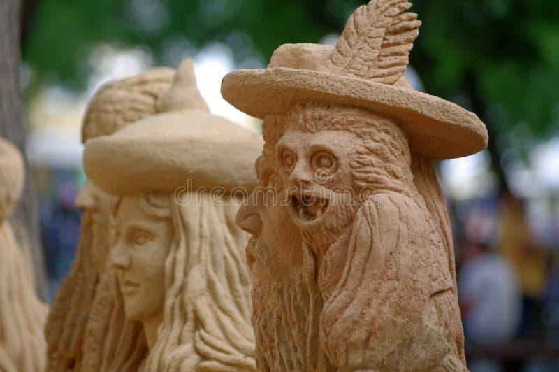 Piasek rzeźby zdjęcia stock