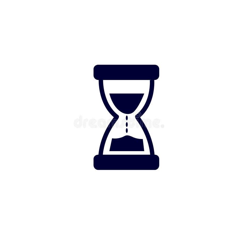 Piasek szklana ikona, Wektorowa ilustracja Piasek ikony wektoru zegarowa ilustracja royalty ilustracja