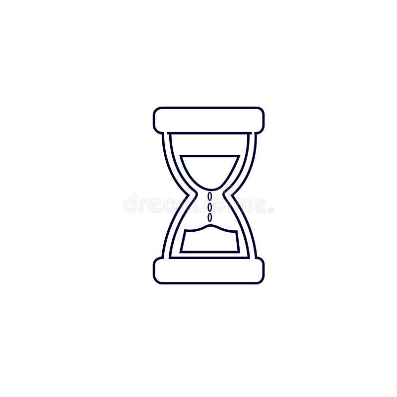 Piasek szklana ikona, Wektorowa ilustracja Piasek ikony wektoru zegarowa ilustracja ilustracja wektor
