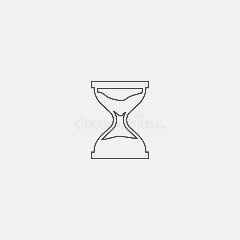Piasek zegarowa ikona royalty ilustracja