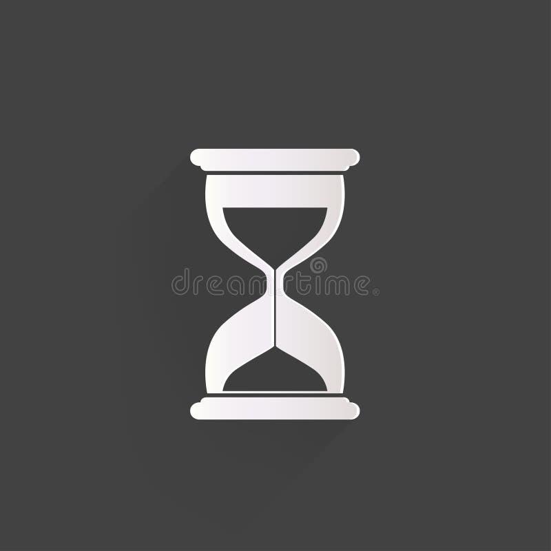 Piasek zegarowa ikona. Szklany zegaru symbol ilustracja wektor