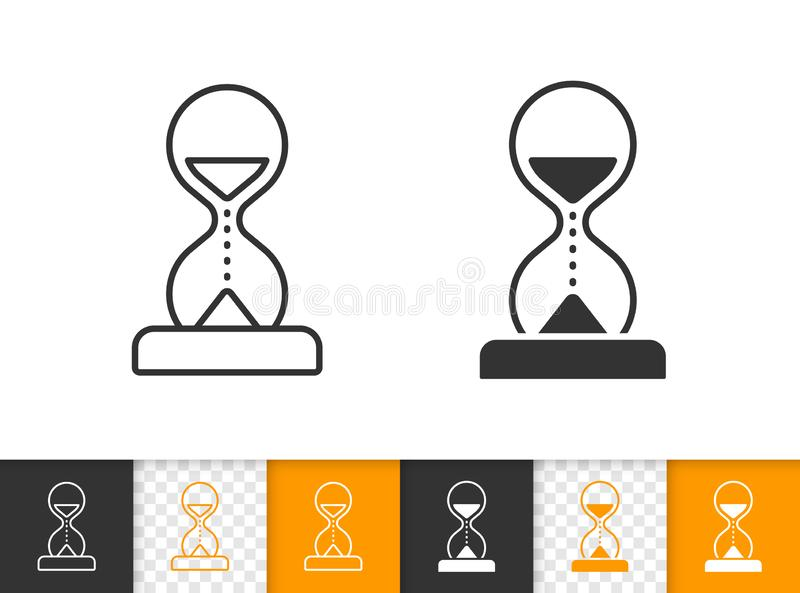 Piaska czerni linii wektoru Szklana prosta ikona royalty ilustracja