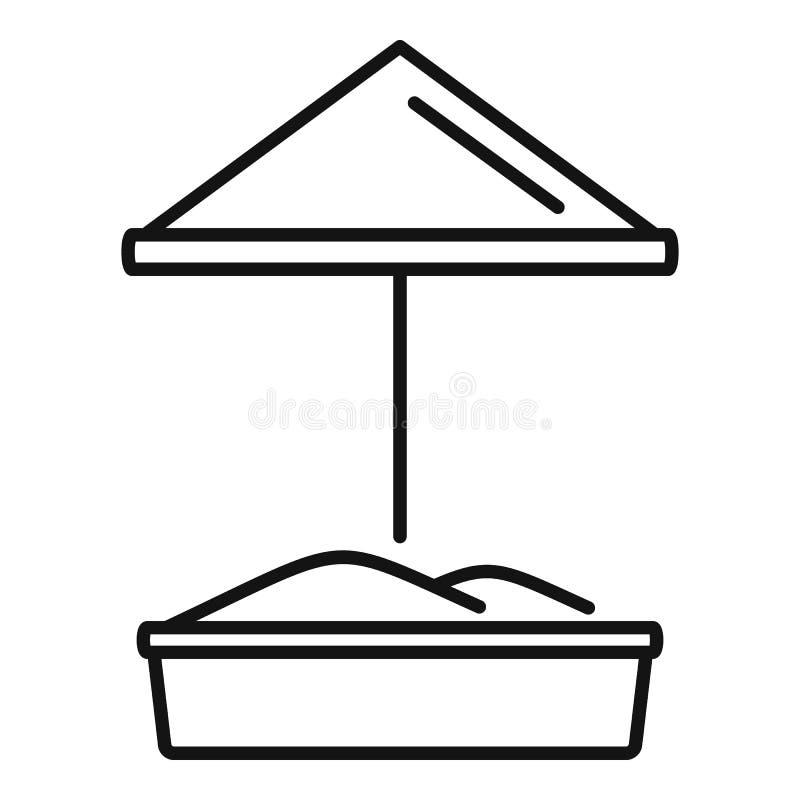 Piaska dzieciaka boiska ikona, konturu styl royalty ilustracja