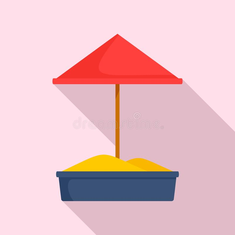 Piaska dzieciaka boiska ikona, mieszkanie styl ilustracja wektor