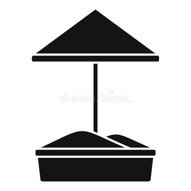 Piaska dzieciaka boiska ikona, prosty styl ilustracja wektor