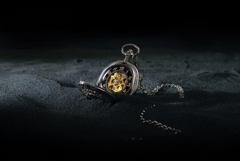 piaska kieszeniowy zegarek zdjęcie royalty free