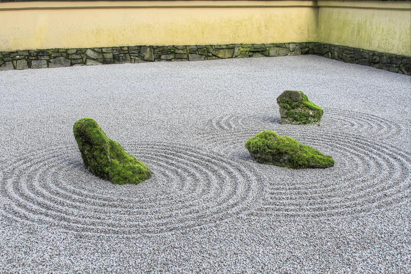 piaska ogrodowy japoński zen fotografia royalty free