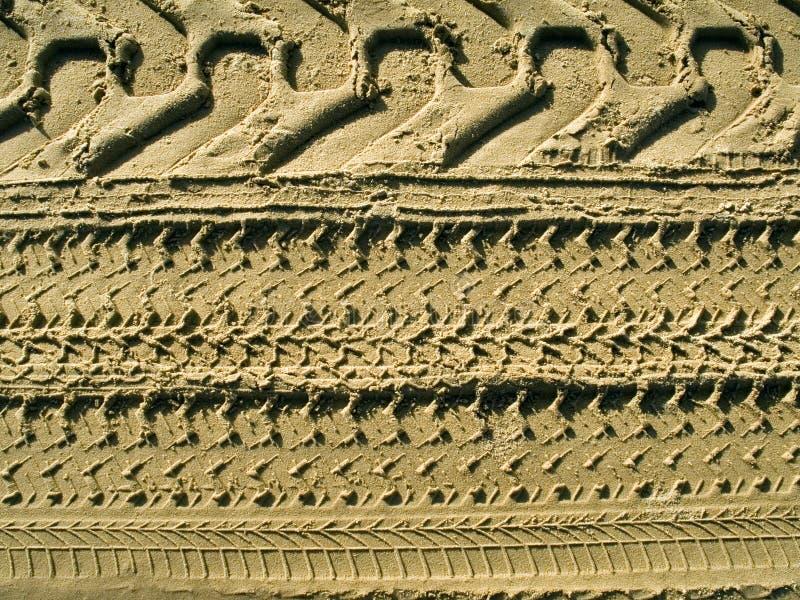piaska opon ślad zdjęcia stock