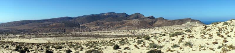Piaska pasmo górskie i diuny zdjęcia stock