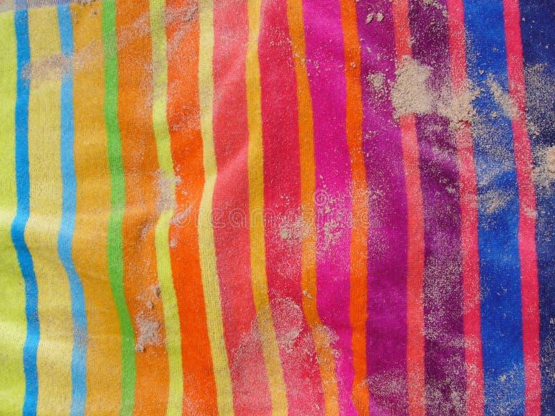 piaska plażowy ręcznik fotografia stock