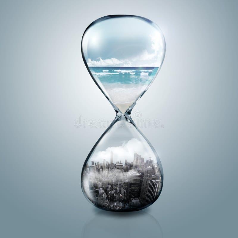 Piaska szkła sen świat ilustracja wektor