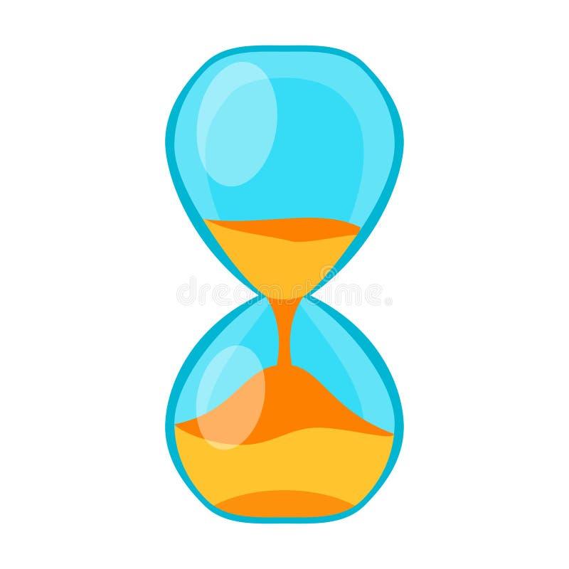 Piaska zegarowego czasu pomiaru instrumentu wektor odizolowywający royalty ilustracja