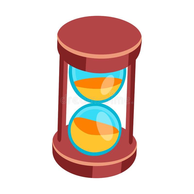 Piaska zegarowego czasu pomiaru instrumentu wektor odizolowywający ilustracja wektor