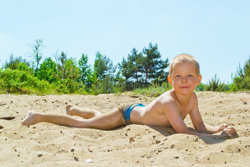 Piaskowata plaża zdjęcia stock