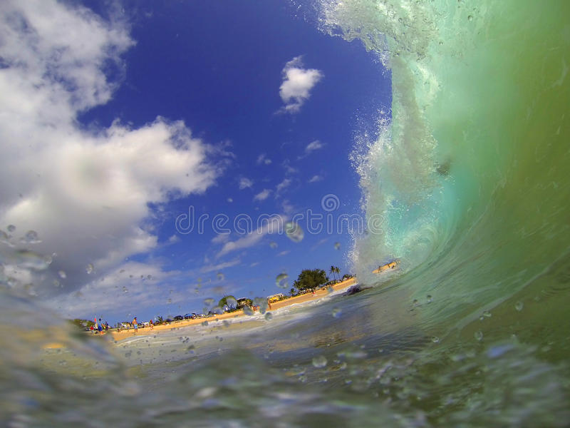 Piaskowata plaża Macha Hawaje obraz royalty free