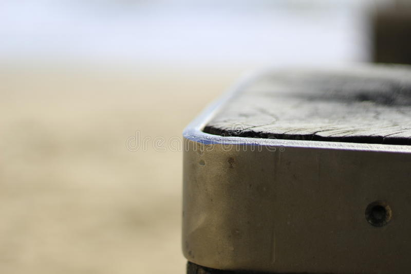 Piaskowatej plaży drewniany filar obrazy royalty free