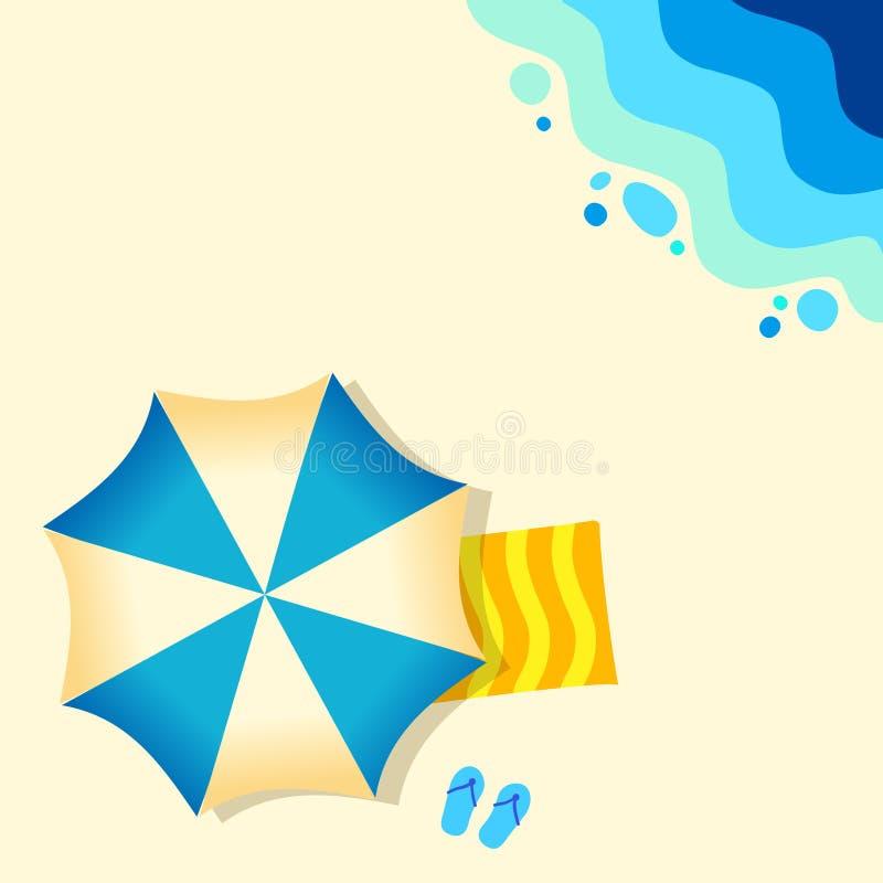 Piaskowatej pla?y t?a tropikalny ocean, abstrakcjonistyczny morze Pogodny summe royalty ilustracja