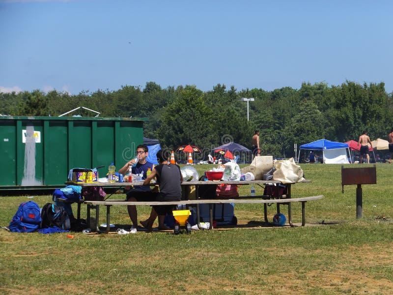 Piaskowaty punktu stanu park w Maryland zdjęcie royalty free