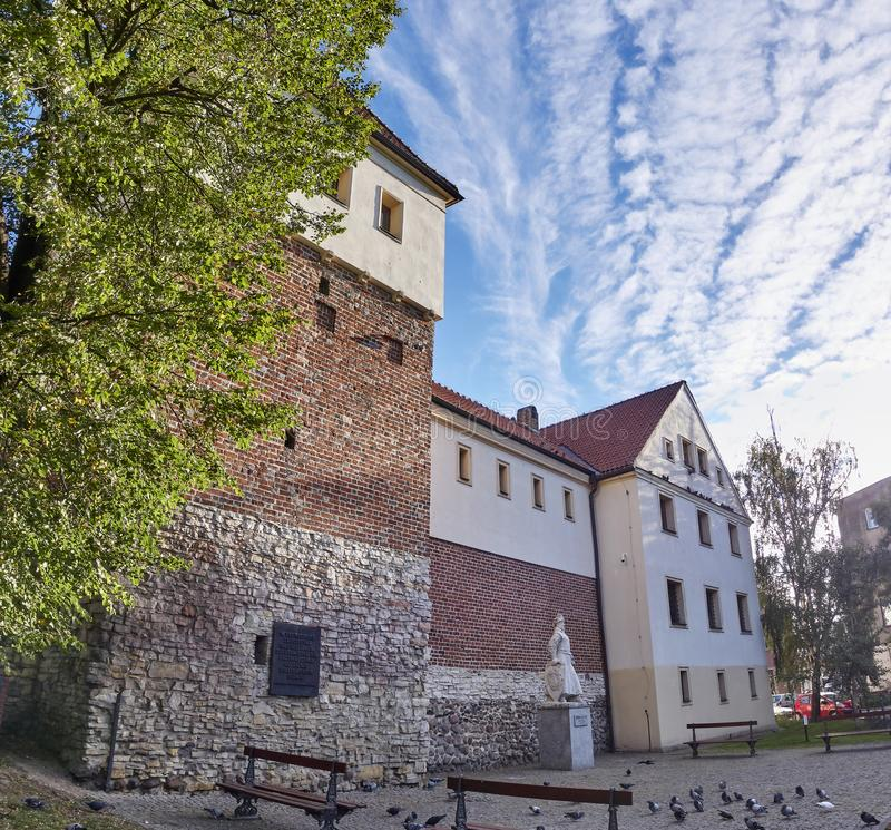 Piast Castle in Gliwice Poland.. The castle from the mid 14th century located in the center of Gliwice royalty free stock image