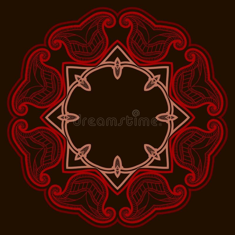 Piastrella per pavimento con la rosetta nello stile orientale. royalty illustrazione gratis