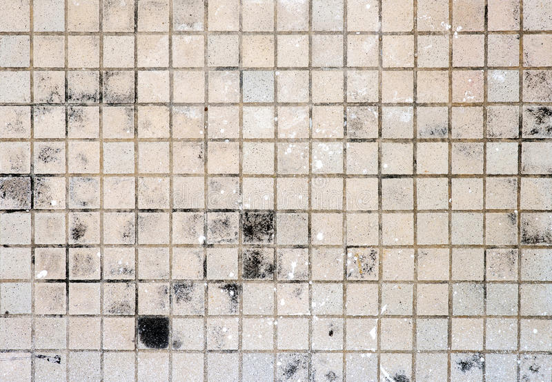 Piastrella per pavimento di Brown sporca fotografia stock