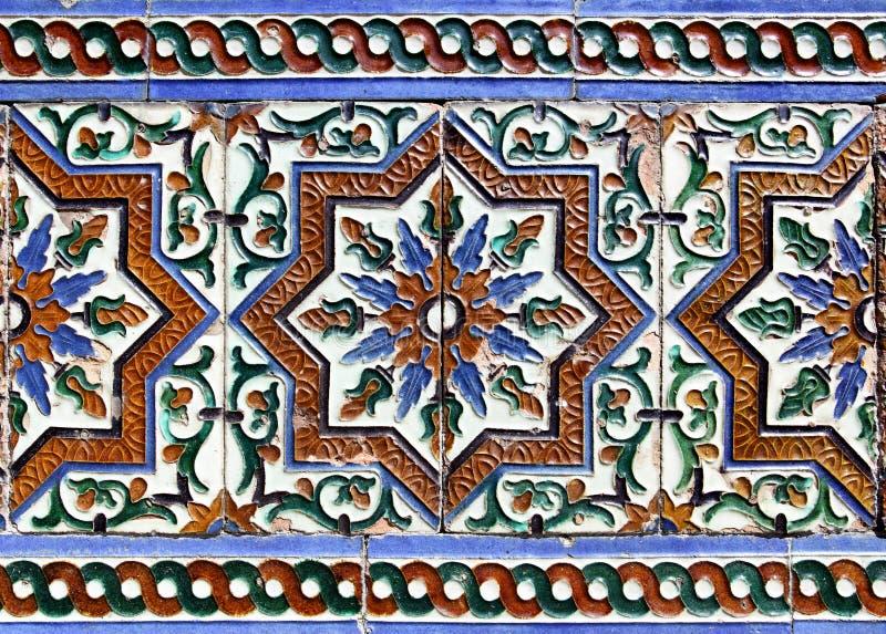 Piastrelle di ceramica di moresco immagini stock