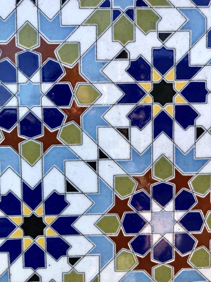 Piastrelle di ceramica geometriche del modello immagine stock