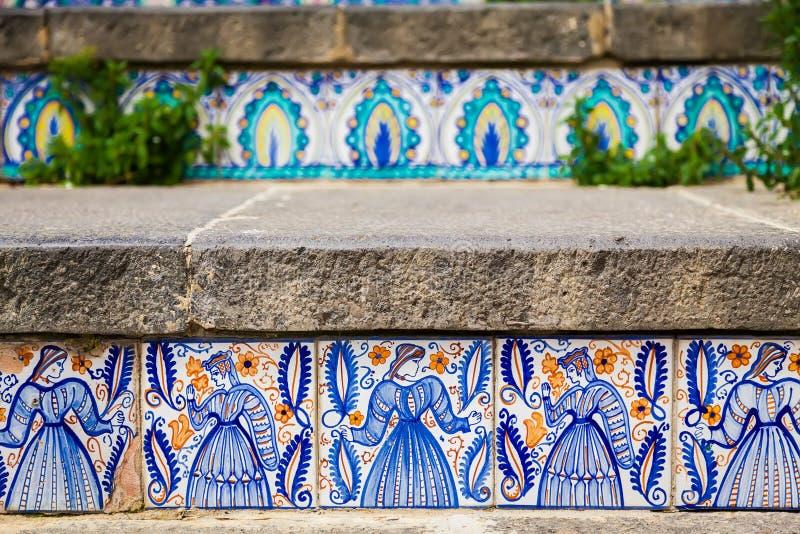 Mattoni in ceramica con decoro caltagirone palermo guida sicilia