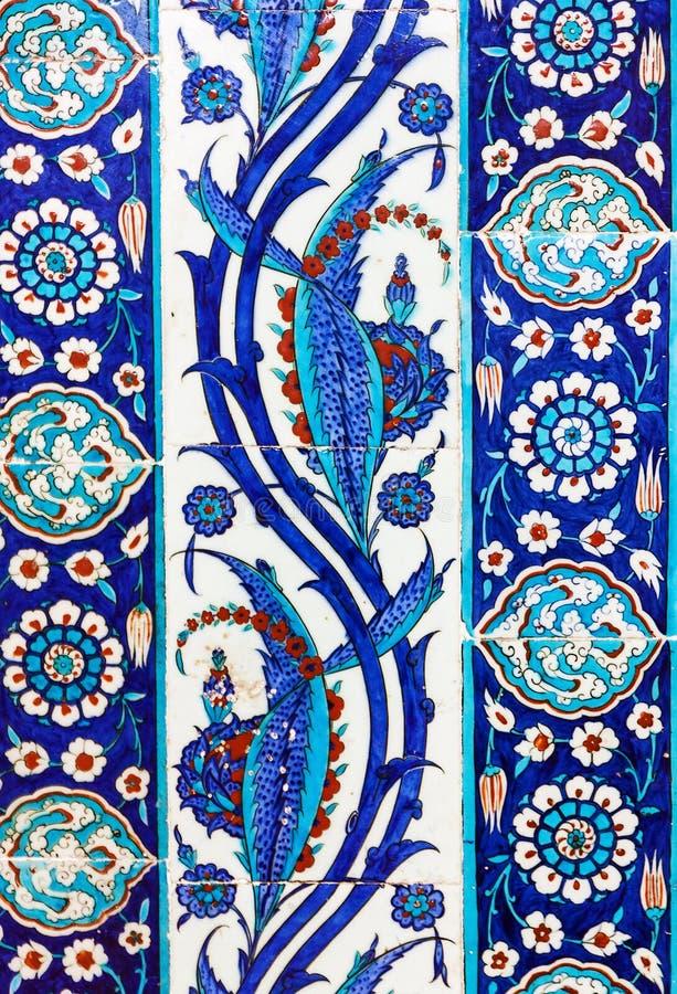 Piastrelle di ceramica turche, Costantinopoli fotografia stock