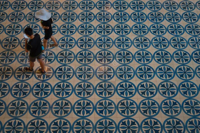 Piastrelle per pavimento al museo nazionale di Kuala Lumpur fotografia stock libera da diritti