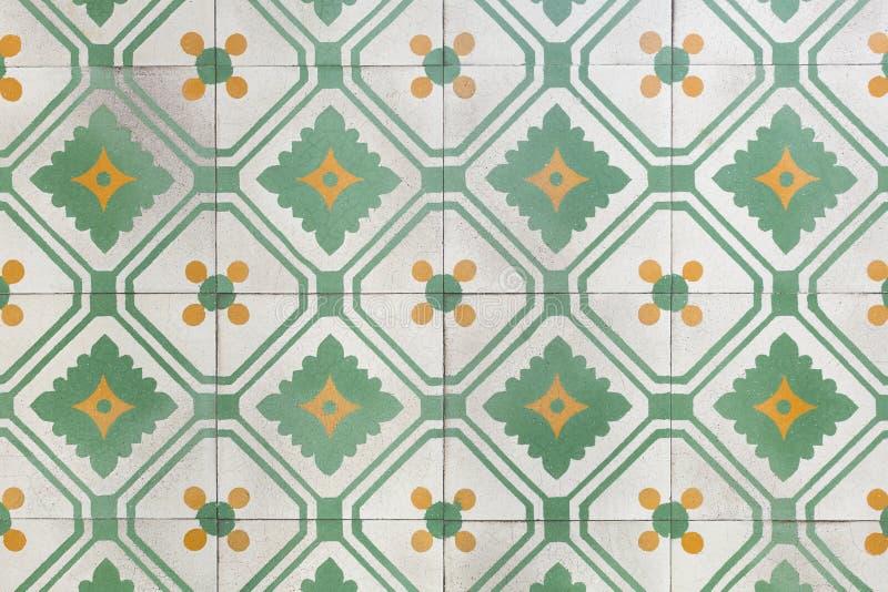 Piastrelle per pavimento antiche fotografie stock