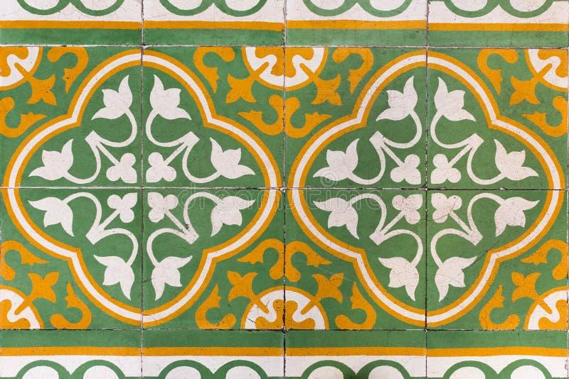 Piastrelle per pavimento antiche di stile immagine stock