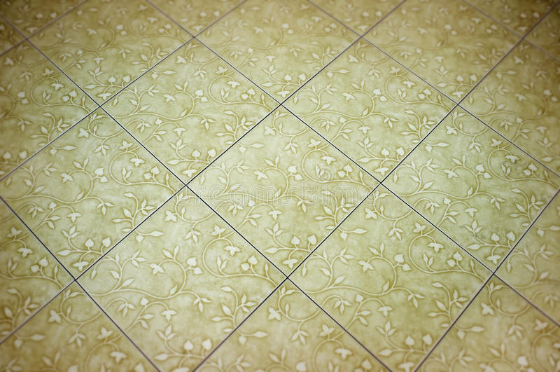 Piastrelle per pavimento ceramiche bianche immagine stock