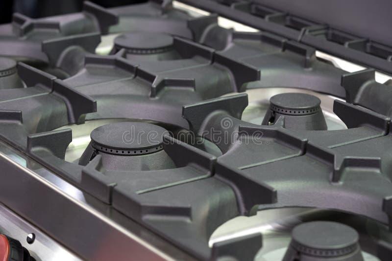 Piastrine della superficie della fresa del gas del metallo dei bruciatori immagini stock libere da diritti