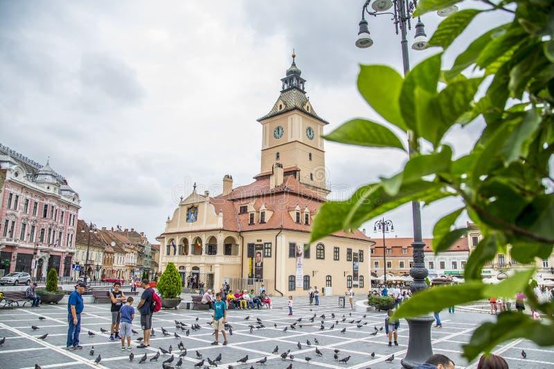 Piata Sfatului Council Square Brasov lizenzfreie stockfotografie