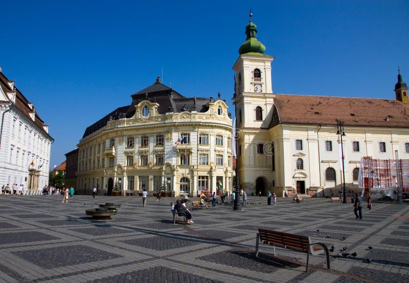 piata Sibiu φοράδων στοκ εικόνα
