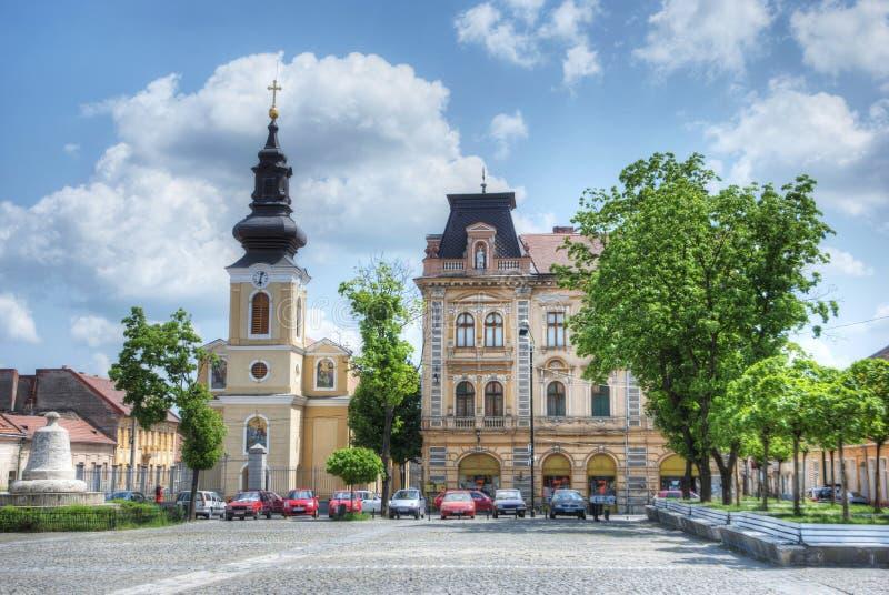 Piata Traian Square, Timisoara, Rumänien lizenzfreies stockfoto