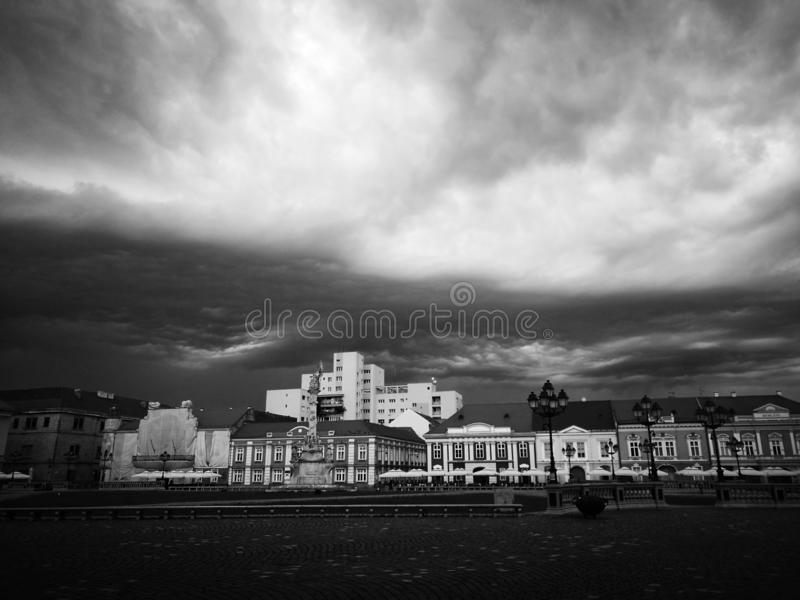 Piata Unirii. In the Storm stock photos