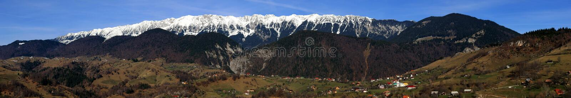 Piatra Craiului Mt Panorama stockfotos