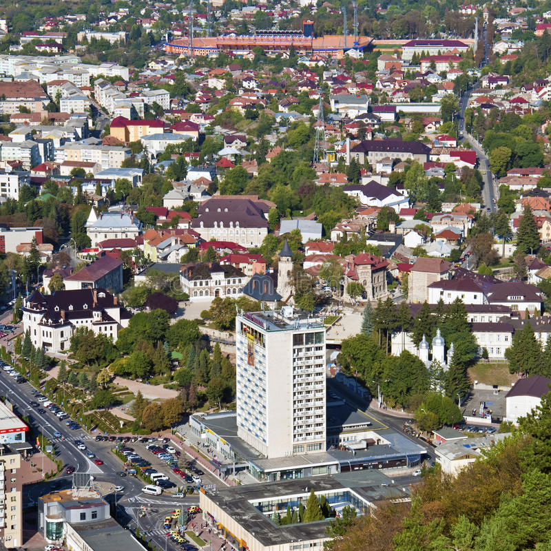 Piatra Neamt city view stock photos