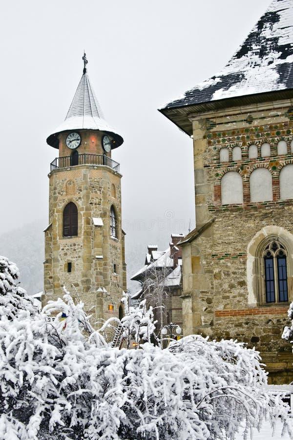 Piatra Neamt city in winter stock photos