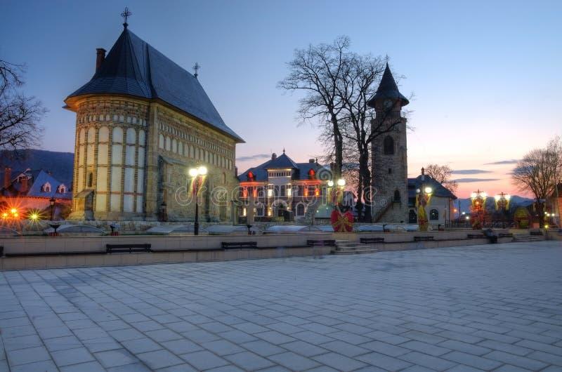 Piatra Neamt, Królewski sąd zdjęcie royalty free