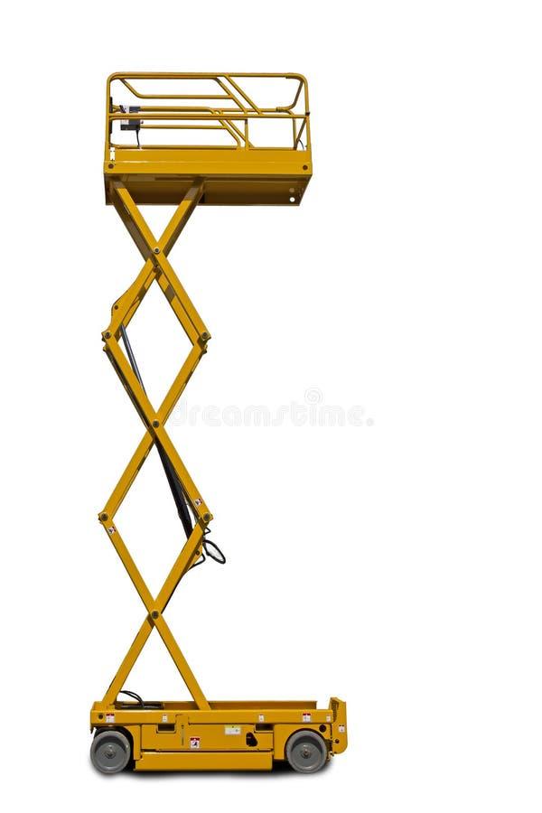 Piattaforma dell'ascensore di forbici fotografie stock libere da diritti